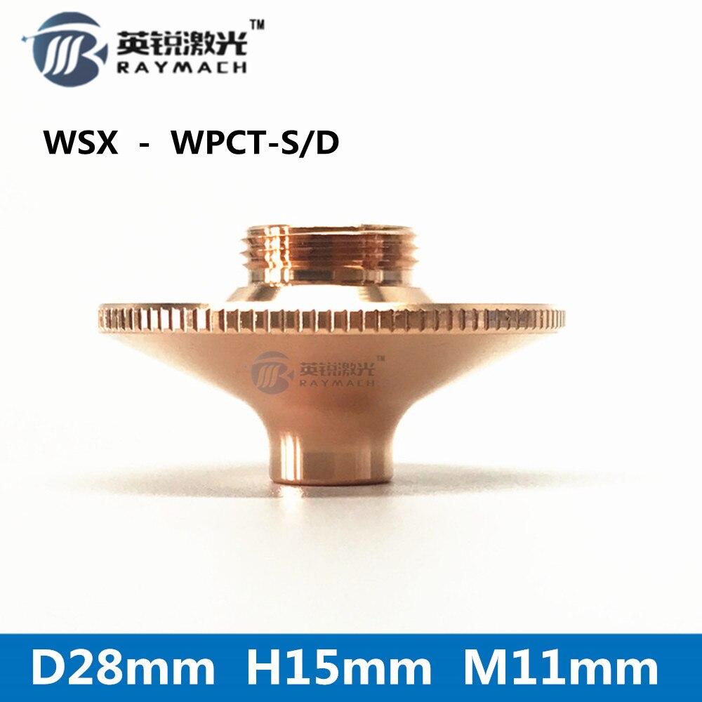 laser nozzle D28 WPCT fiber laser machine spare parts wholesale laser nozzles hot sale cooper holder
