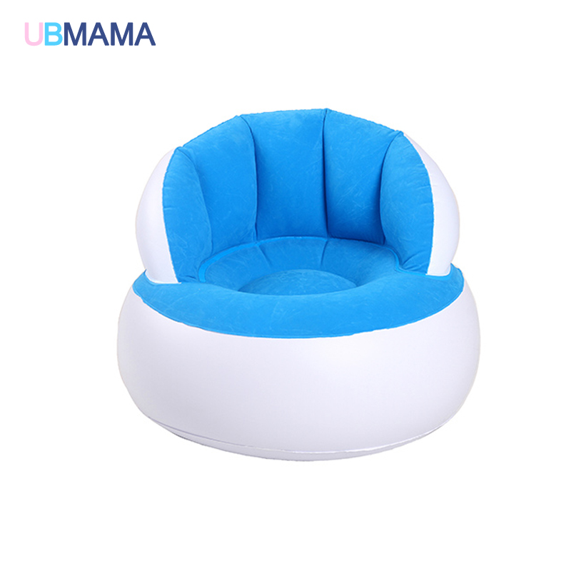 Baby Seats & Sofa Special Section Pvc Short Plush Inflatable Portable Chair Cartoon Animal Sofa Embroidered Childrens Chairs Baby Chair With Velvet Bag Mother & Kids
