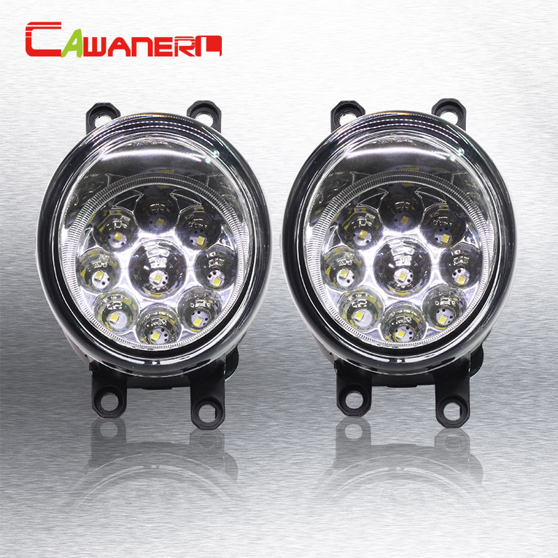 Cawanerl Car LED Bulb Fog Light Daytime Running Light DRL 12V 1 Piar For Lexus LX570 LX570 RX350 RX450h HS250h GS350 GS450h IS-F for lexus rx gyl1 ggl15 agl10 450h awd 350 awd 2008 2013 car styling led fog lights high brightness fog lamps 1set