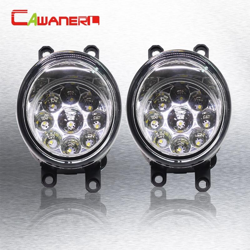 Cawanerl Car LED Bulb Fog Light Daytime Running Light DRL 12V 1 Piar For Lexus LX570 LX570 RX350 RX450h HS250h GS350 GS450h IS-F 2pcs fog light lamp left right set for toyota camry corolla yaris rav4 lexus gs350 gs450h lx570 hs250h is f lx570 rx350 rx450h