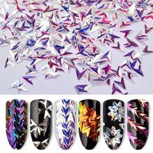 Лазерная стрелка хамелеон блестки для ногтей 3d Красочные Блестки