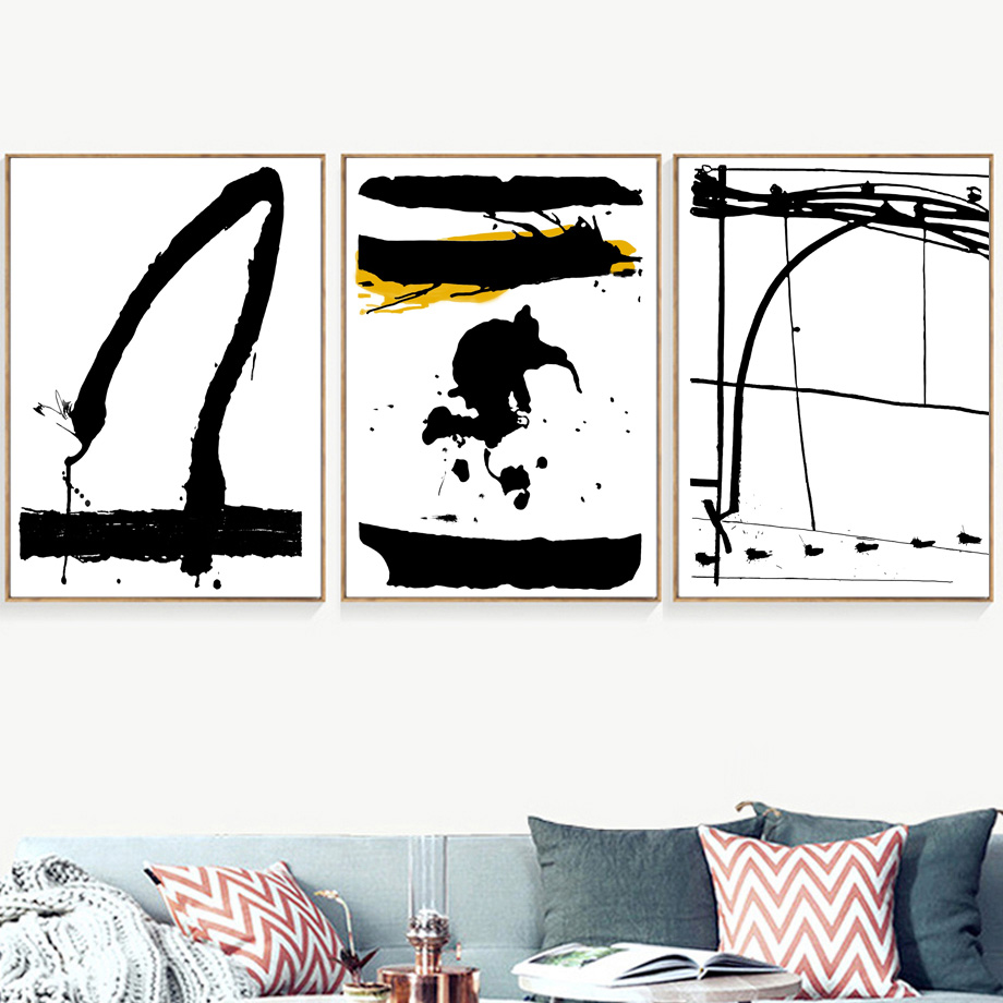 Abstract Graffiti Nordic Poster And Prints Pop Wall Art Canvas Painting Scandinavian Pictures For Living Room Bedroom Decor