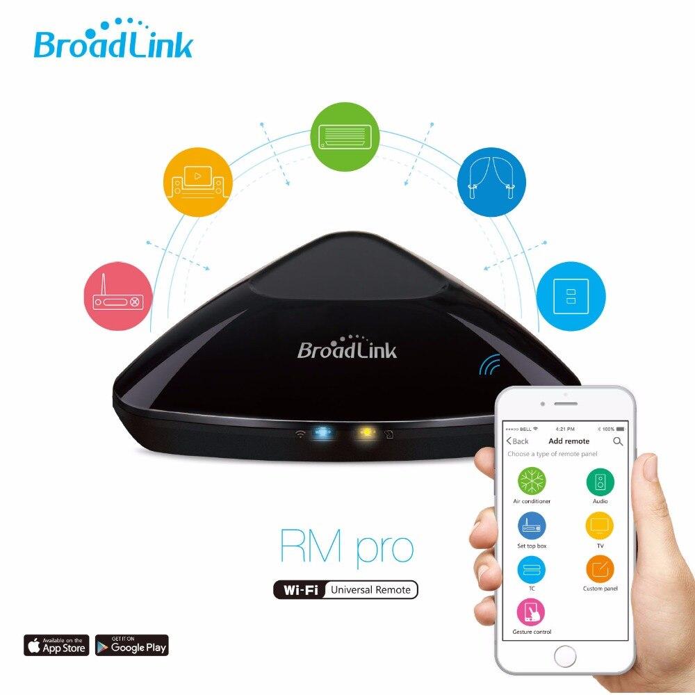 Broadlink  Rm Pro + Universal Intelligent Controller, IR+RF+Wifi  Wireless Remote Control  smart home  control center