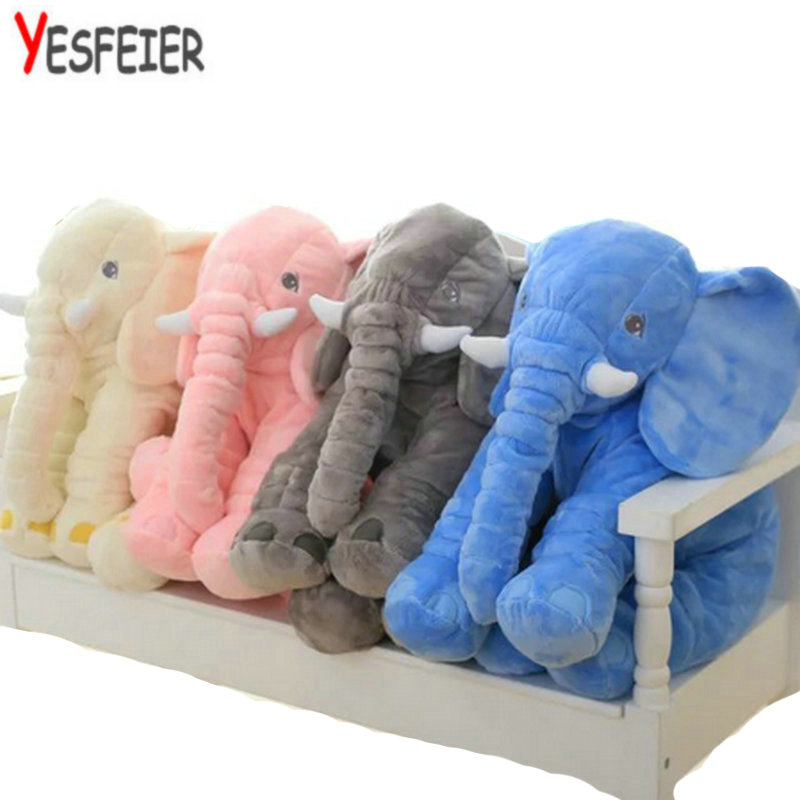 60 cm New Style Colorful Elephant Plush Toys Elephant pillow Baby bed Cushion stuffed animals doll northern europe style double 3d printing ins doll plush sofa stuffed animal child toys birthday xams gift dash pillow cushion