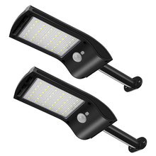 2 Pack 36 LED Solar Light Lamp Outdoor Rotatable Mounting Pole Motion