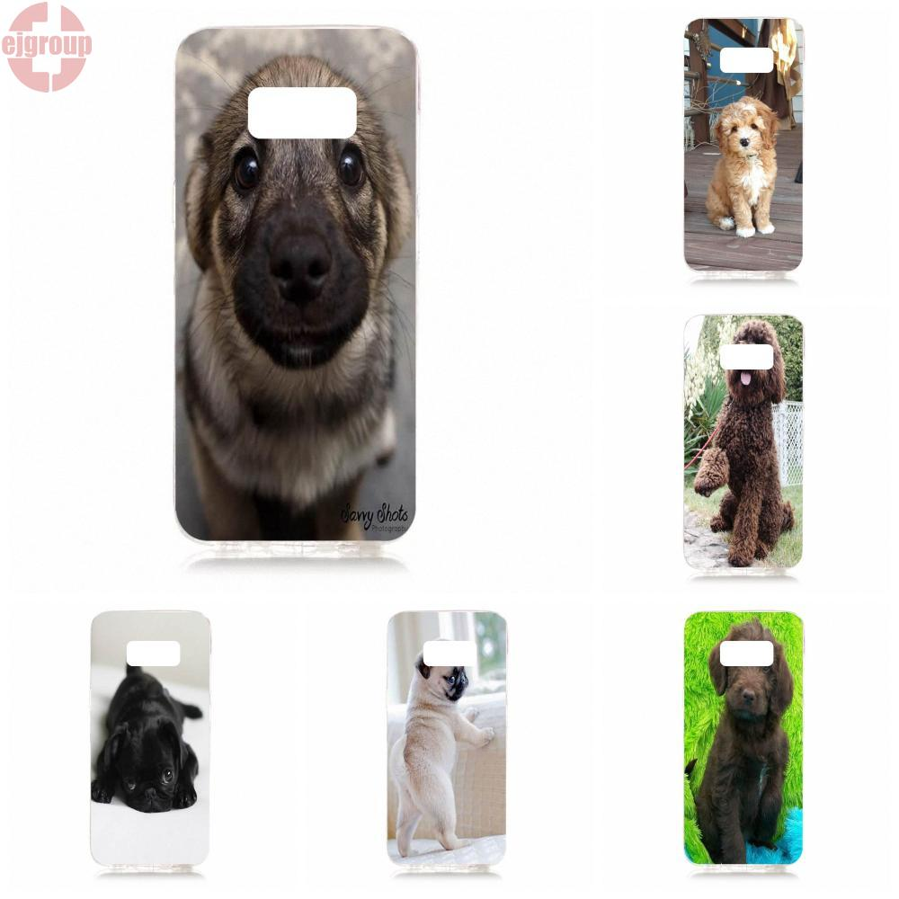 EJGROUP Soft TPU Silicon Mobile Phone Case Cover Baby Dog Small Animals For Samsung Galaxy S8 5.8 inch G950 G950F SM-G9500