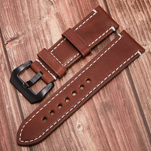 leather thin boat-fruited sterculia High-end leather watch strap double-sided leather leather