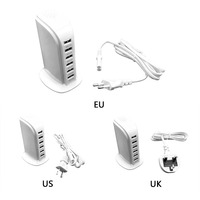 6 Ports USB Phone Charger US UK EU Charging Head Sailboat Shaped Charger Extension Socket For