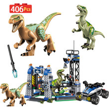 Jurassic World Park Movie 2 Dinosaurs Variation Technic Animal Blocks Rex Raptor Assemble Brick Toys For Children(China)