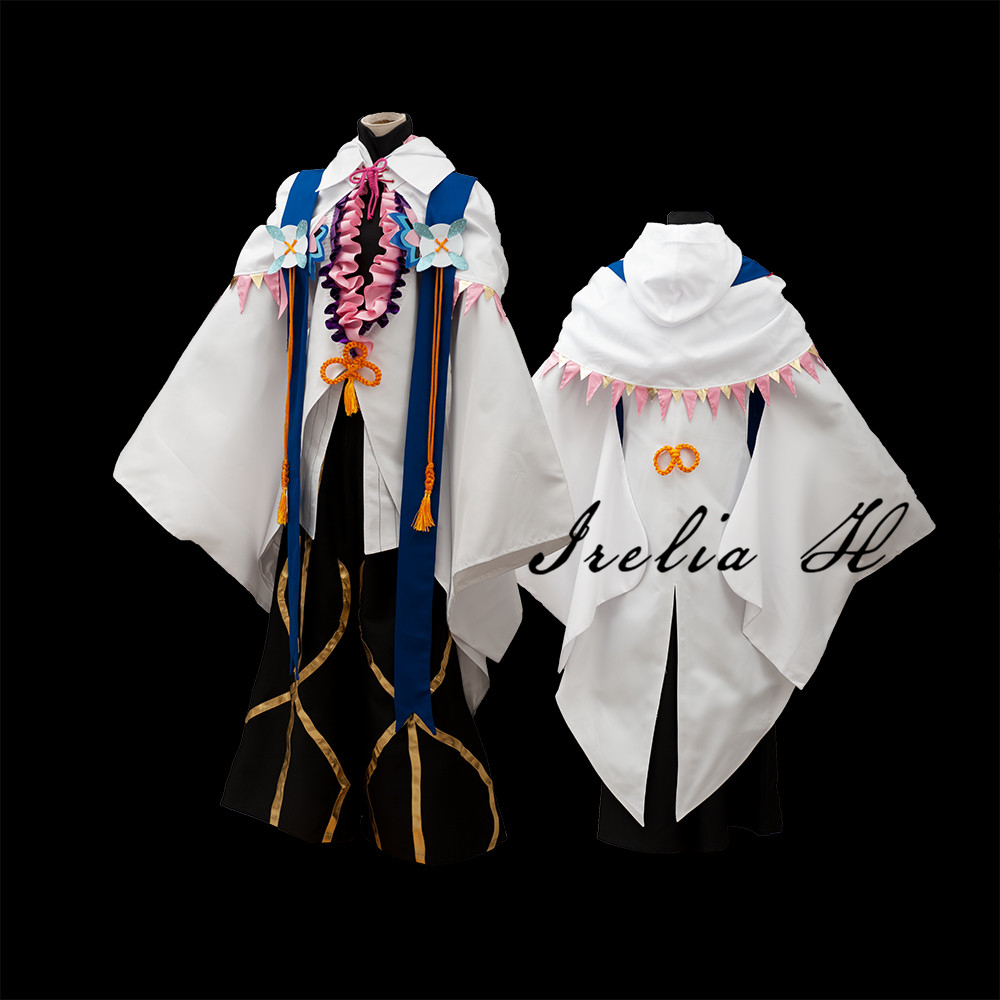 Merlin FGO Cosplay Costume Fate Grand Order Flower magician Merlin cosplay costume Custom made Halloween costumes