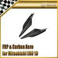 Car-styling For Mitsubishi Evolution EVO 10 Varis Ultimate Carbon Fiber Front Bumper Canard With Bracket