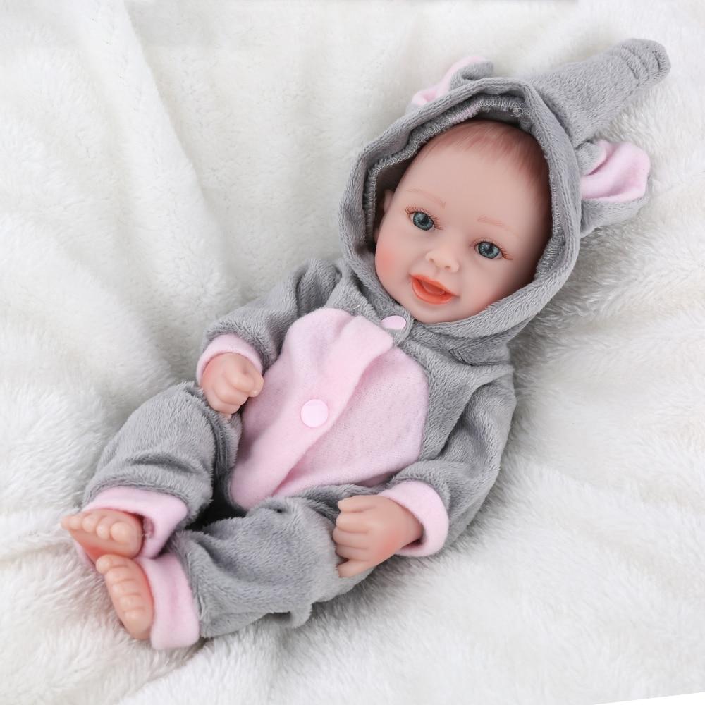 d4097258c01a KAYDORA 25cm 10Inch Realistic Miniature Soft Silicone Dolls Full Body  Reborn Baby Doll Boy Lifelike Newborn Baby Dolls Cute