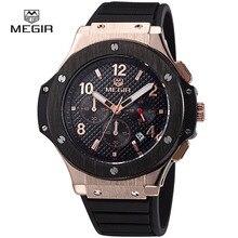 MEGIR hot casual quartz montres hommes mode étanche sport de course montre pour homme chronographe vélo montre-bracelet pour les hommes 3002G
