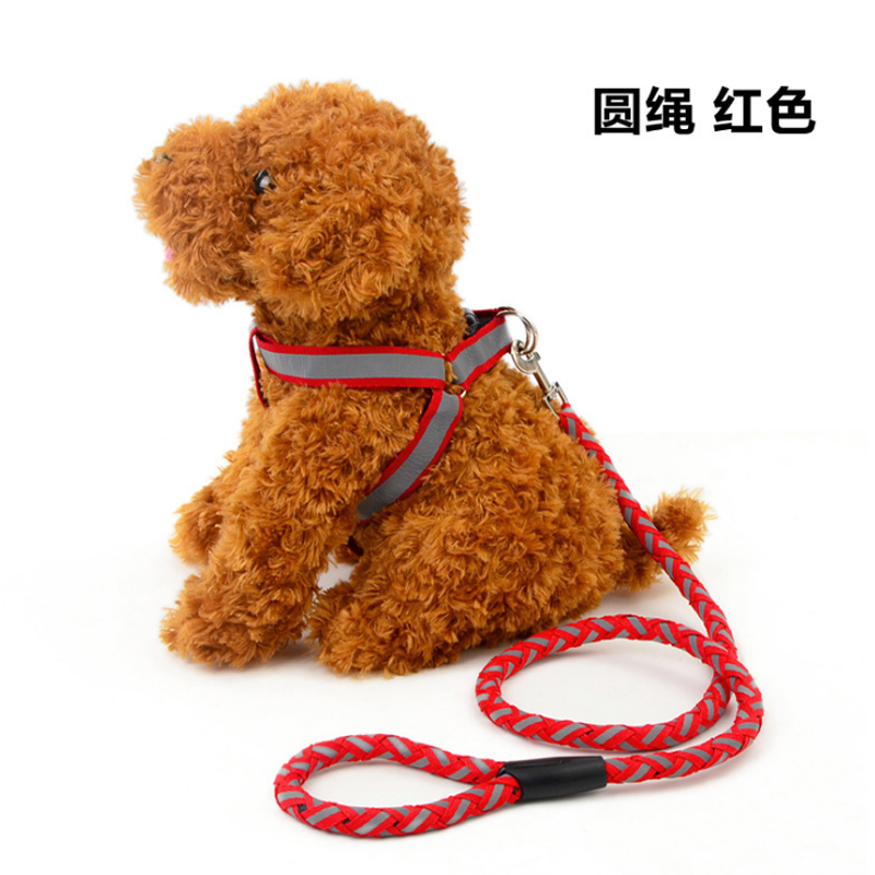 2018Petcircle Hot Sale Jean pet dog leash Traction Rope Pet dog harness Dog Collar for small and medium dogs 9 color size S-L