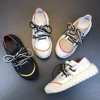 Новинка 2019, повседневная женская обувь, Кожаные сникерсы на шнуровке, женская обувь на платформе, женская обувь на плоской подошве, женские