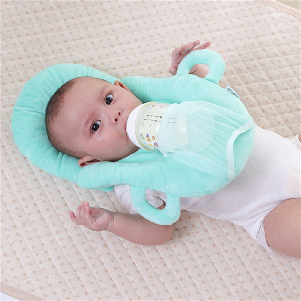 Multi-function Useful Anti Roll Prevent Flat Head Pad Cushion Infant Nursing Pillow Baby Head Protective Milk Feeding Pillow