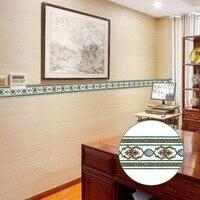 Sáng tạo Tự Dính Ván Chân Tường Wallpaper LivingRoom Phòng Tắm Mát Màu Chữ Thập Mô Hình Đồ Họa Dán Tường Vòng Eo YX014