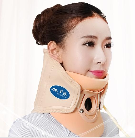 Cervical traction apparatus inflatable stretching his neck support fixed toro pulse protect cervical neck massager medical neck support orthosis adjustable cervical collar device fixed traction braces vertebra rehabilitation head protection