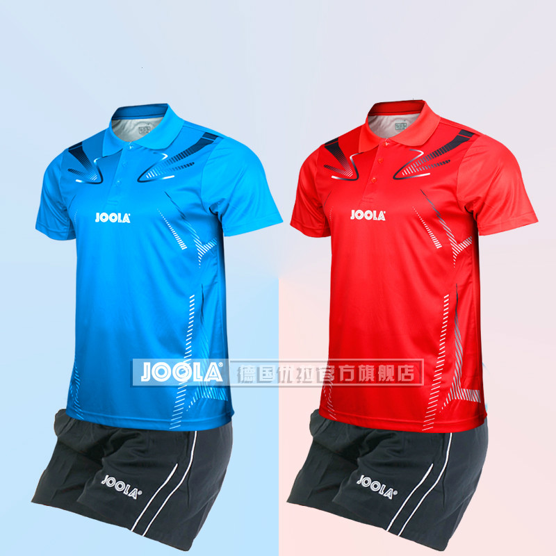 JOOLA table tennis suit men s and women s team uniform table tennis sportswear short sleeved