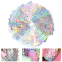 6/12/24 Sheets Hollow Laser Nail Art Sticker Stencil Set Vinyl Tip Transfer Guide Decals Manicure Decorations