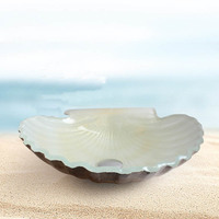 New Bathroom Glass Wash Basin Bathroom Hot colored Scallop shell glass Art Basin Wash Basin glass bath sink LO622538