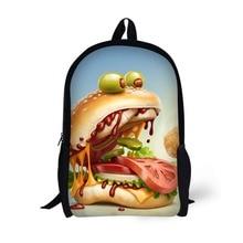 Hamburger Design Backpack Children School Bags For Age 6-15 Boys girls Backpacks Laptop