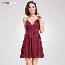 Ever-Pretty New Fashion Women Sexy Lace Cocktail Dresses V-Neck A-Line Spaghetti  Strap Backless Casual Club Party Dress c07ed3d113d7