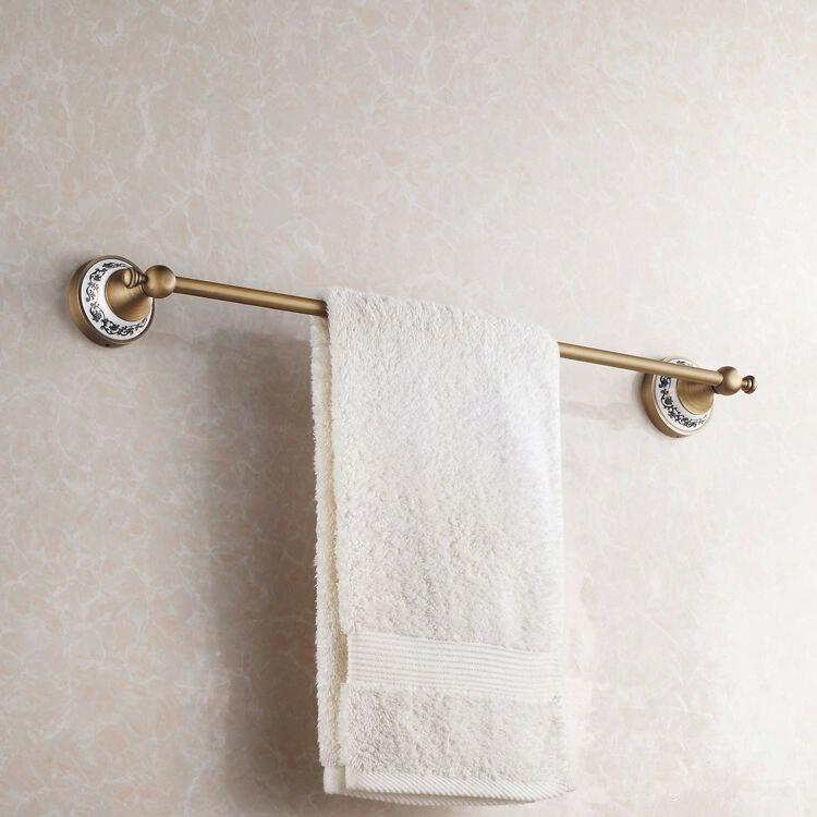 Роскошные однотонные латунные классические бронзовые латунные вешалка для полотенец Держатель 60 см аксессуары для ванной комнаты ПОЛОТЕН