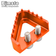 Bjmoto Universal Motorcycle Moto CNC foot pegs Rear Brake Pedal Step For KTM DUKE SUPERMOTOR SMC ENDURO 690 2008 2009