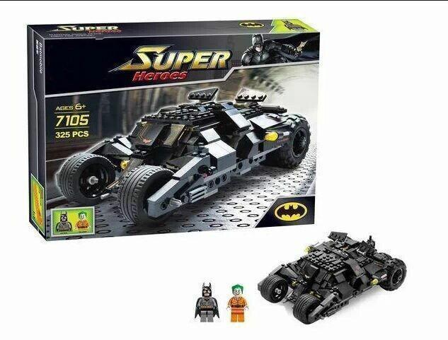 hao gao le  Baby Toys Decool 7105 DIY Building Blocks Super Heroes cars Batman joker Bricks action Toys Educatinal ToysModel Building