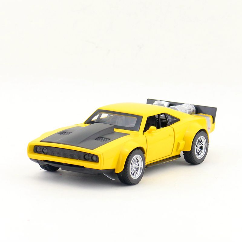 1:32 Scale/Diecast Metal Toy Model/Dodge Ice Charger R/T/Sound & Light Car/Pull back Educational Collection/For childrens gift