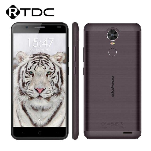 "Original Ulefone Tiger 5.5""HD Quad Core 2GB RAM 16GB ROM MTK6737 Android 6.0 8.0MP 1280x720 4200mAh OTG Fingerprint Mobile Phone"