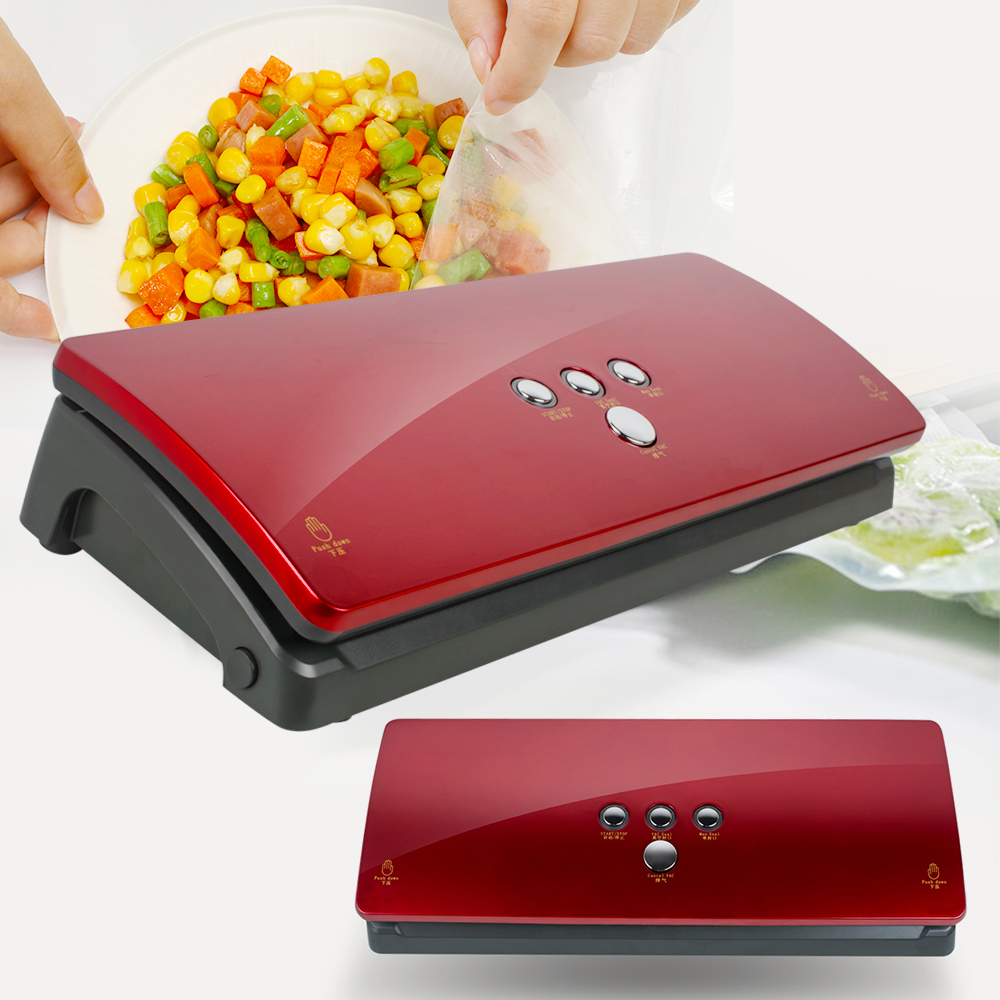 Commercial Best Vacuum Food Sealer Machine Continuous Inflatable Automatic Electric Food Packing Vacuum Sealer commercial rolling vacuum marinated machine ka 6189 electric vacuum marinated chicken bacon machine 220v 20w
