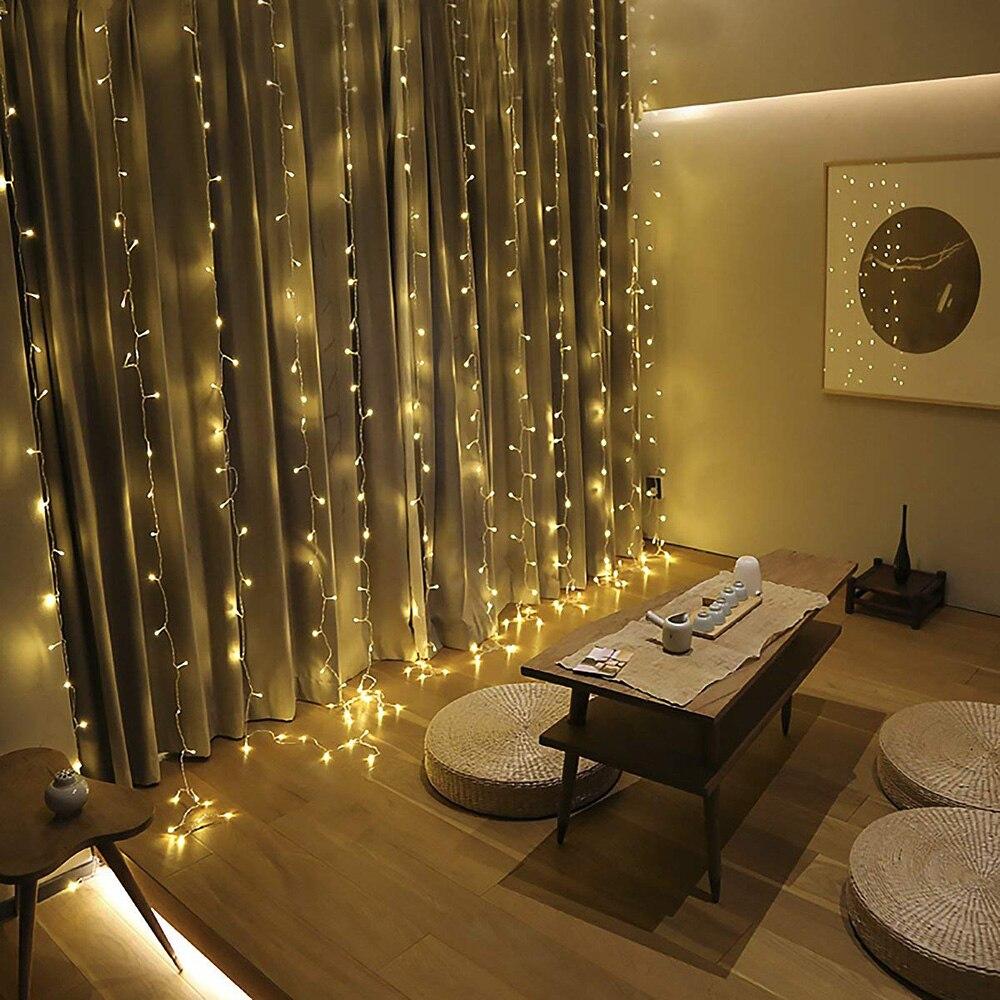 conectável luzes de guirlanda de natal interior