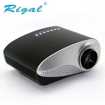 Rigal RD802 portátil Mini proyector de cine en casa LED LCD Beamer USB/VGA/HDMI/de dibujos animados niño Video cine película proyector RD-802