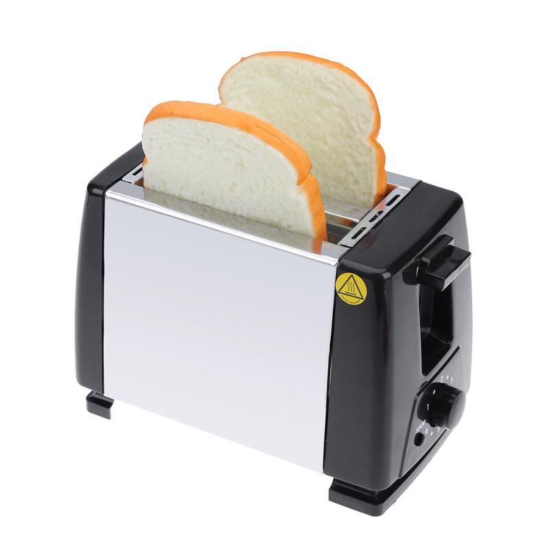 Automático pan tostadora hornear desayuno máquina 750 W 5 Gear Acero inoxidable 2 rebanadas ranuras pan fabricante EU Plug
