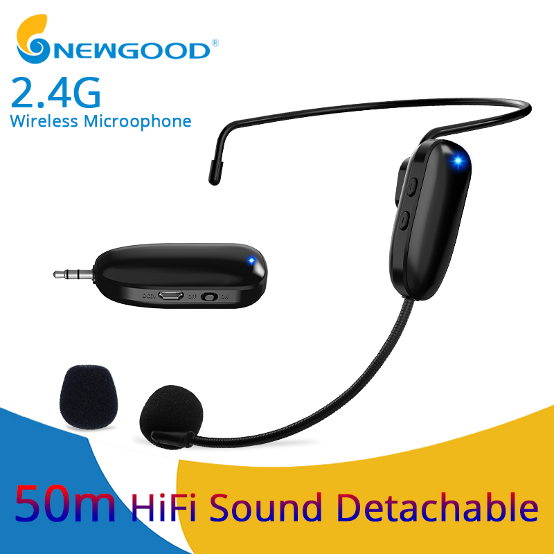 Microphones 2.4G Wireless Microphone Speech Headset Megaphone Wireless Mic For Loudspeaker Teaching Meeting Guide Mic For PCMicrophones 2.4G Wireless Microphone Speech Headset Megaphone Wireless Mic For Loudspeaker Teaching Meeting Guide Mic For PC