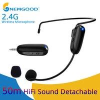 Microphones 2.4G Wireless Microphone Speech Headset Megaphone Wireless Mic For Loudspeaker Teaching Meeting Guide Mic For PC