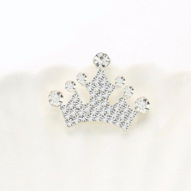 Lot de 10 boutons de couronne en strass | Livraison gratuite, flatback bouton de couronne, accessoires pour les cheveux ()