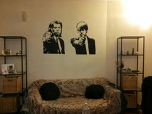 New arrival Banksy Pulp Fiction Wall Sticker Living Room Home Decor Bedroom Decoration Modern Decal
