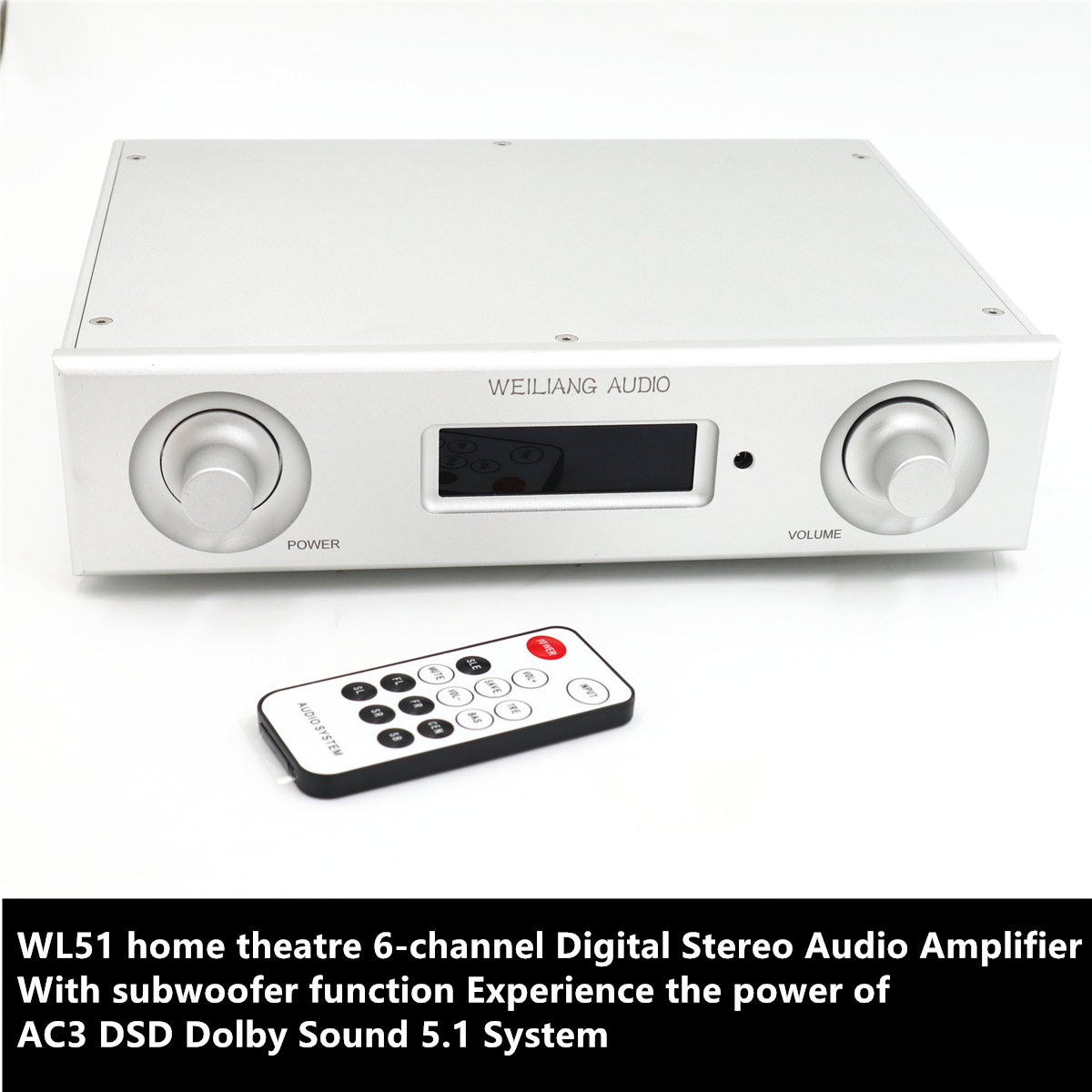 TIANCOOLKEI WL51 6 channel Digital Stereo Audio Amplifier Experience the power of AC3 DSD Dolby Sound