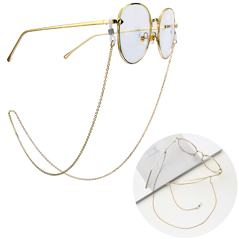 2019 Chic Gold Silver Glasses Chains Sunglasses Lanyard Strap Reading Eyeglass Chain Reading Glasses Cord Holder Neck Strap Rope