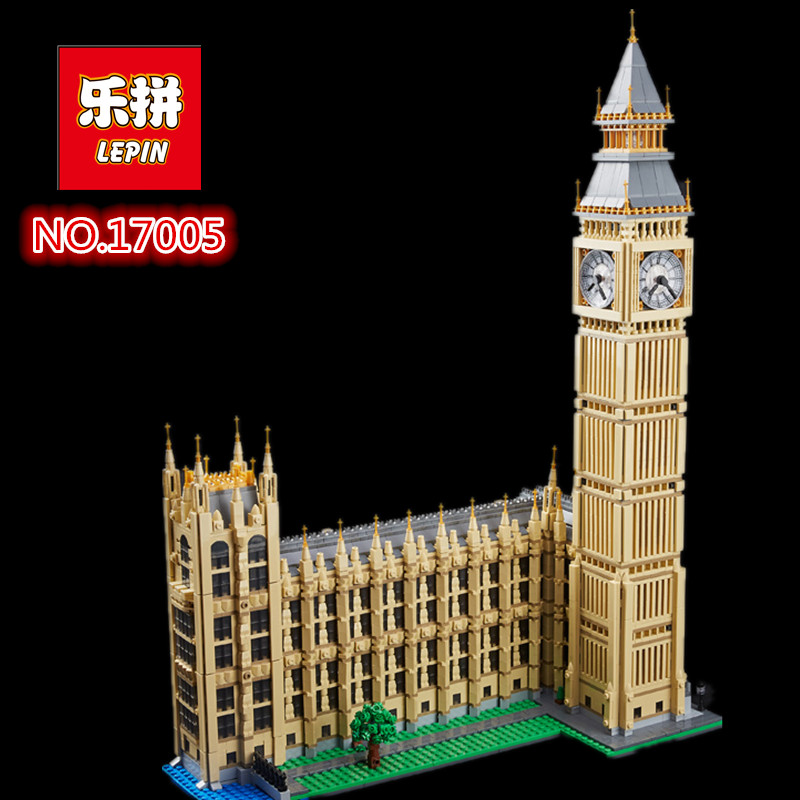 2018 neue LEPIN 17005 4163 Stucke Stadtstrae Big Ben Elizabeth-turm Modellbau Kit Set Blocks Bricks Kinder Spielzeug 10253 2017 neue lepin 05083 star cool spielzeug wars dental kriegsschiffe 1736 stucke educational building blocks bricks spielzeug mod