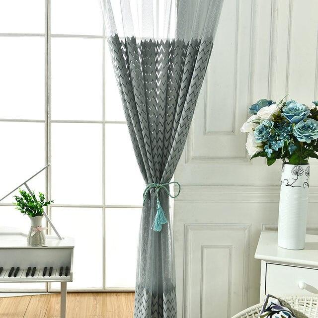 barato gris tulle moderno cortinas para la sala de cocina moderna cortinas de voile sheer cortinas - Cortinas Cocina Moderna