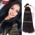 Pelo peruano de la virgen recta 3 bundles virgen extensiones de cabello humano barato de la armadura de grado 7a sin procesar queen hair products