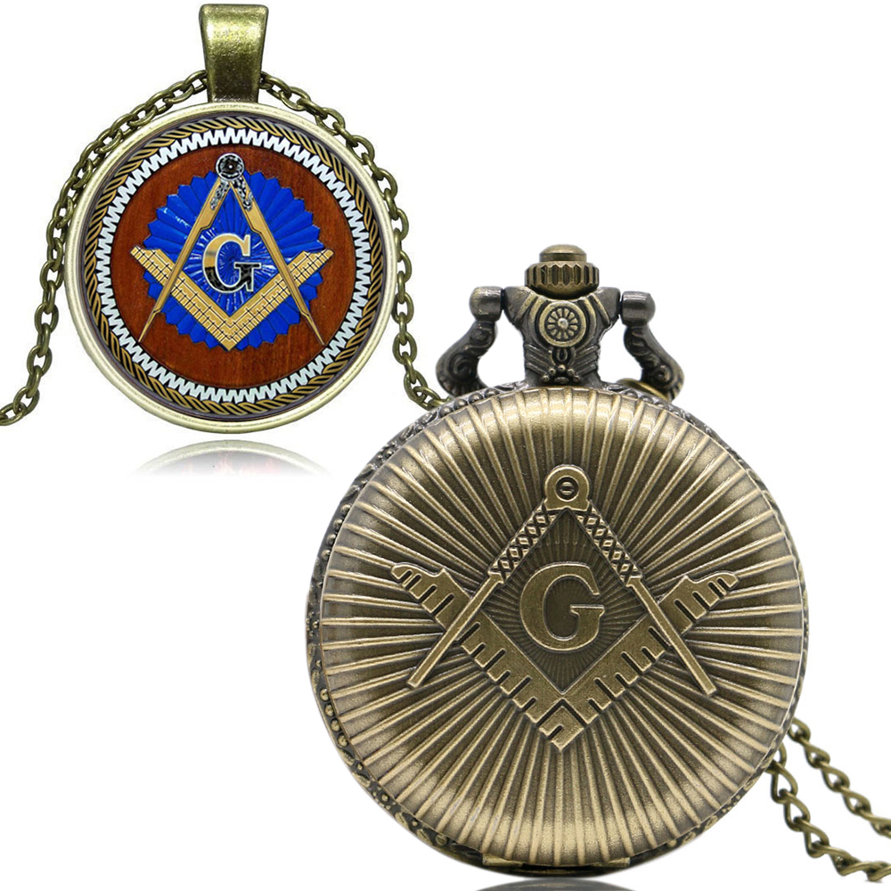 2019 New Masonic Freemason Freemasonry Theme Quartz Pocket Watch Series For Men Women Gifts Relogio De Bolso