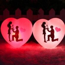 1 шт. светодиодный светильник, красочная форма сердца влюбленных, маленький Ночной светильник, Свадебный сюрприз, украшение, реквизит, подарок на день Святого Валентина, романтическая лампа