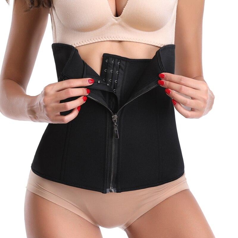 2c848afd770 Waist Trainer Corset Women Zipper Hook Body Shaper Waist Cincher Tummy  Control Slimming Shapewear Neoprene Thermal Sauna Sweat-in Waist Cinchers  from ...