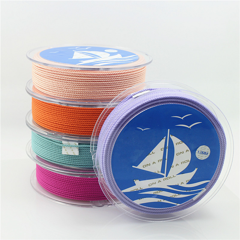 DIY 1mm Silk thread milan cord Jewelry & packing & shoes rope Necklaces & Bracelets cords 30colors No.16-33color 4meters/roll