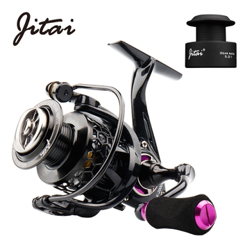 JITAI 2019 Spinning Reel with Free Spool Lightweight CNC Aluminum Spool 10+1BBs Saltwater Wheel Carp Fishing Reels Carretilha